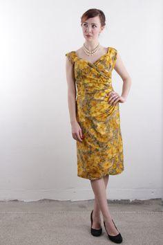 Vintage 50s Dress  Saffron Floral