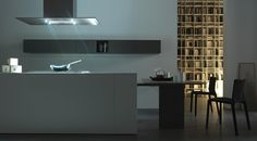 FILLED WITH LIGHT We admire the uncluttered geometrical style and the design of this Light kitchen. As th name says, the whole room is filled with delicate light. Light design kitchen program. www.modulnova.it #designkitchen #interiordesign #designhome #designfurniture