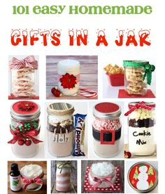 101 Gifts in a Jar Ideas and Recipes!  So many easy homemade gift ideas friends and family will love! | TheFrugalGirls.com
