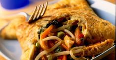 Thai chicken omelette