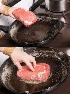 Bife ancho na beurre noisette ou manteiga de avelãs Feed Açougue do Produtor