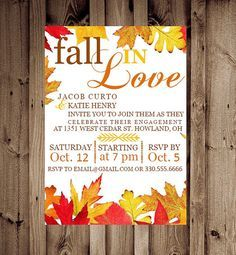 fall engagement party invitations - Google Search