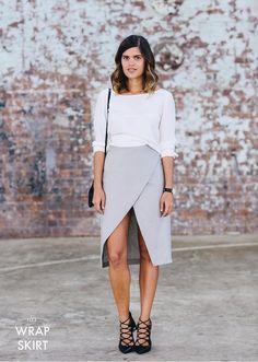 DIY SPLIT WRAP SKIRT http://apairandasparediy.com/2015/08/diy-split-wrap-skirt.html