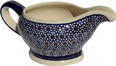 Polish Pottery Gravy Boat 16 Oz. From Zaklady Ceramiczne Boleslawiec #1258-120 Traditional Pattern, Capacity 16 Oz., 2015 Amazon Top Rated Gravy Boats & Stands #Kitchen