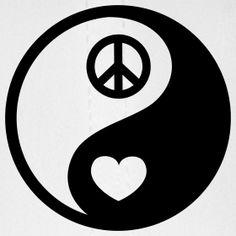 Yin Yang Peace Heart