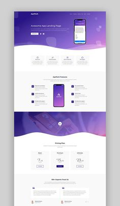 Buy Apetech - App Landing Page by HtmlLover on ThemeForest. ApeTech App Landing page Template is a modern and Responsive HTML Template. Apetech is App landing page b. Design Sites, Web Design Websites, Web Design Quotes, Web Ui Design, Web Design Agency, Web Design Trends, Web Design Tutorials, Responsive Web Design, Flat Design