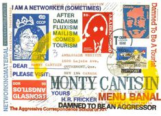 Mail Art envelope from H.R. Fricker, 1990. Mail art can be seen as anticipating the cyber communities founded on the Internet.