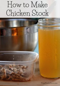 Making chicken broth is easy with a slow cooker and a little time. The broth turns out very yummy and there are a few chicken meat bits for soup too. Homemade Chicken Stock, Leftover Chicken Recipes, Canning Recipes, Soup Recipes, Dinner Recipes, Best Macaroni Salad, Great Recipes, Favorite Recipes, Stuffed Whole Chicken