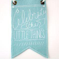 Urban Bird & Co: Celebrate the Little Things Mini-Banner, Light Blue #MarthaStewartAmericanMade #americamadeebaysweeps