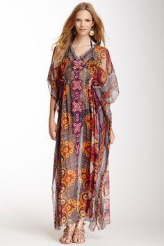 Flora Printed Maxi Dress
