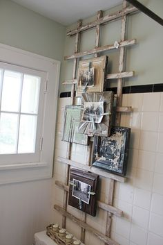 I see an ida for the bathroom here - make it into a decorated towel/bathrobe hanger! garden fence + metal sheeting + magnetic clothespins = awesome.