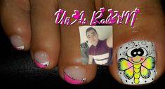 La imagen puede contener: 2 personas, primer plano y texto Toe Nail Art, Toe Nails, Cute Pedicure Designs, Cute Pedicures, Manicure, Beauty, Diana, Victoria, Finger Nails