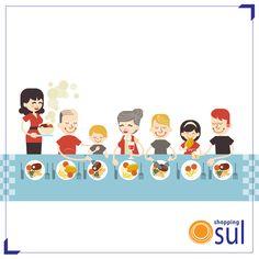 Faça o aquecimento para o Dia das Crianças num almoço especial em família aqui no Shopping Sul.  http://www.shoppingsul.net/alimentacao/