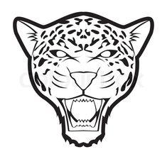 Illustration of jaguar vector art, clipart and stock vectors. Cheetah Logo, Cheetah Face, Mondrian Art Projects, Animal Jaguar, Aztec Drawing, Jaguar Tattoo, Rainforest Animals, Expo, Easy Drawings