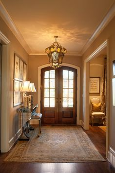Making A Design Statement With Your Entry Hall - Love this entry - nice and simple but still very homey