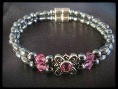 Rose Flower Double Magnetic Bracelet $24.00