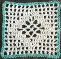 Diamond Filet Crochet Dishcloth - pattern by Maggie Weldon Filet Crochet, Knit Or Crochet, Crochet Motif, Crochet Patterns, Cloth Patterns, Crochet Things, Crochet Granny, Crochet Ideas, Crochet Blocks