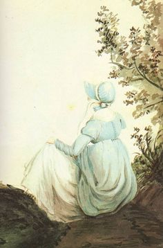 Watercolor by Cassandra Austen, generally accepted as Jane Austen