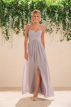 Grey bridesmaid dress from B2