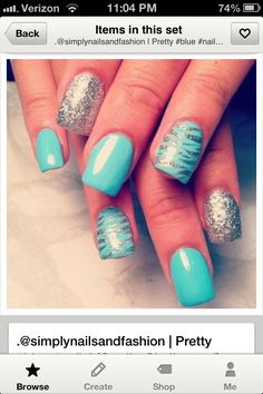 Blue nail design! Like designs but diff color