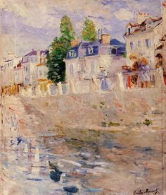 The Quay at Bougival - 1883 - Berthe Morisot