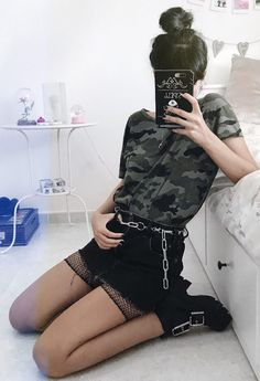 14 Camouflage Fashion Ideas to Check Out - Ninja Cosmico - #grunge #fashion