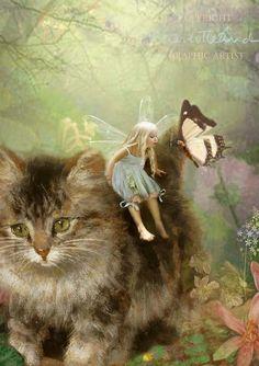 Halloween Clip Art - Vintage Owl &- Cat - The Graphics Fairy
