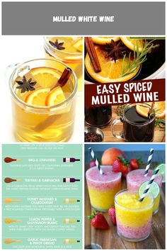 Mulled White Wine Recipe -- easy to make, and so deliciously warm and comforting   gimmesomeoven.com wine drink Mulled White Wine