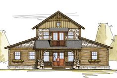 House Plan 8504-00089 - Mountain Rustic Plan: 3,840 Square Feet, 3 Bedrooms, 2.5 Bathrooms