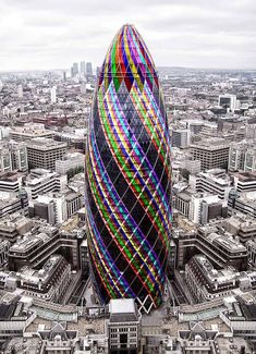 """From my Board: """"Architecture"""" The bullet building [The Gherkin], London Unusual Buildings, Interesting Buildings, Amazing Buildings, Modern Buildings, World Famous Buildings, Architecture Unique, Futuristic Architecture, Interior Architecture, London Architecture"""