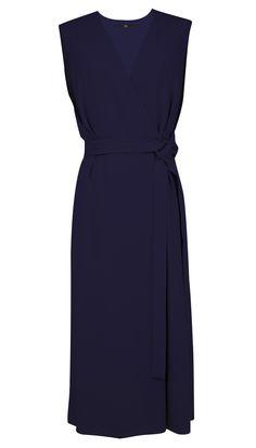 Tibi - Savanna Crepe V-Neck Wrap Dress