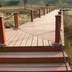 Brown WPC flooring with natural wood texture #wpc #wpcdeck #deck #decking #outdoordecking #floor #outdoorflooring