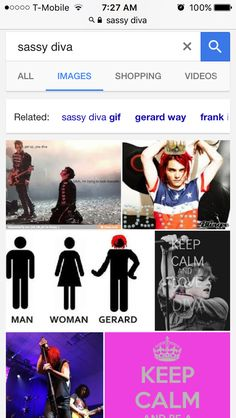 I CAN'T BREATHE I LOOKED UP SASSY DIVA AND GERARD WAY POPPED UP>>> HAHHA XD My god just do it XD