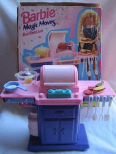 1995 Barbie Magic Moves Barbeque BBQ in Box | eBay
