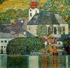 Gustav Klimt, Church in Unterach on the Attersee, 1916