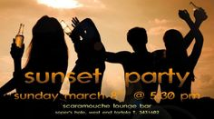 Tonight MARCH 8TH Starting 5:30PM | Sunset Party @ Scaramouche Lounge Bar #SopersHole #BVI