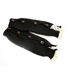 Loving this Black Button Boot Socks on #zulily! #zulilyfinds