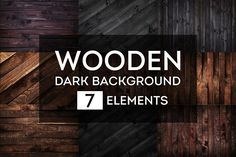 Dark wooden backgrounds bundle #1 by Max Lashcheuski on @creativemarket
