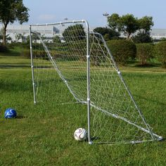 Complete 12x6' Backyard Soccer futbol Football Goal Frame with Net & Stakes…