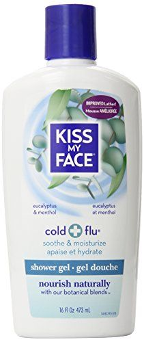 Kiss My Face Cold & Flu Moisture Bath & Shower Gel -when you're congested, nothing makes you feel more like human being than a bath or shower with it.