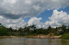 Rio Gregório na Amazônia brasileira no Estado do Acre