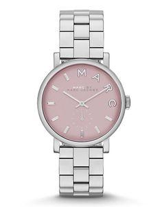 215$ Bijoux et Accessoires | Montres pour Femme | Baker Mini Silver Tone Pink Dial Watch | La Baie D'Hudson