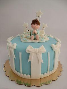 Angel cake. Torta bautizo.