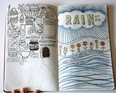 Sketchbook Project 2011 Page 18-19 by ecdesignz, via Flickr