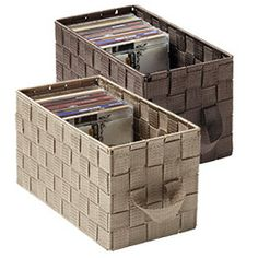 The Container Store U0026gt; Tribeca CD Bin. For Storing DVDs UPRIGHT In  Sleeves.