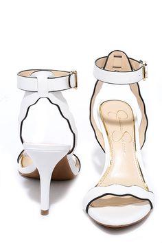 Jessica Simpson Morena Powder White Leather Heelsat Lulus.com!