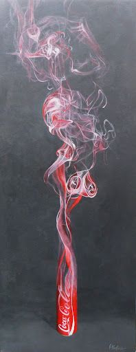 Smoking Can - Acrylic on Canvas x Lava Lamp, Smoking, Table Lamp, Canning, Canvas, Gallery, Home Decor, Tela, Table Lamps