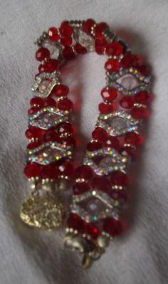 July-Ruby Swarovski Bracelet