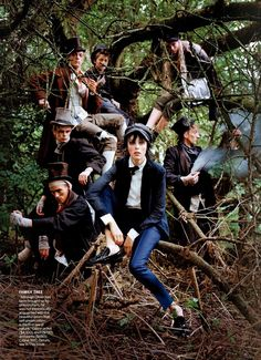 Edie Campbell by Tim Walker for Vogue Dec 13