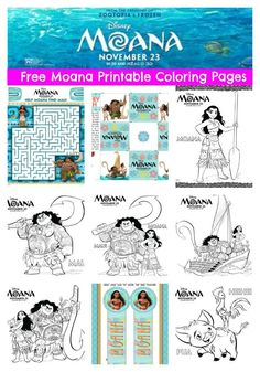 Celebrate Moana coming to theaters with free Moana coloring pages